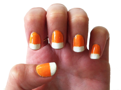 Candy Corn Nail Art Tessas Homemade