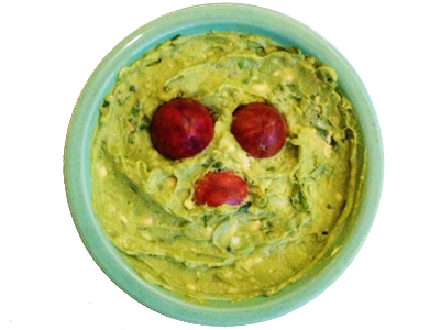 Ewok Guacamole in Bowl with Eyes