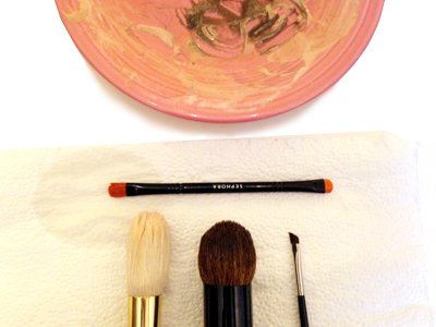 How To Clean Your Makeup Brushes -Cleaned Brushes - Tessa's Homemade